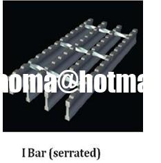 Serrated I-style Bar Grating,Serrated I-bar type Steel Grating